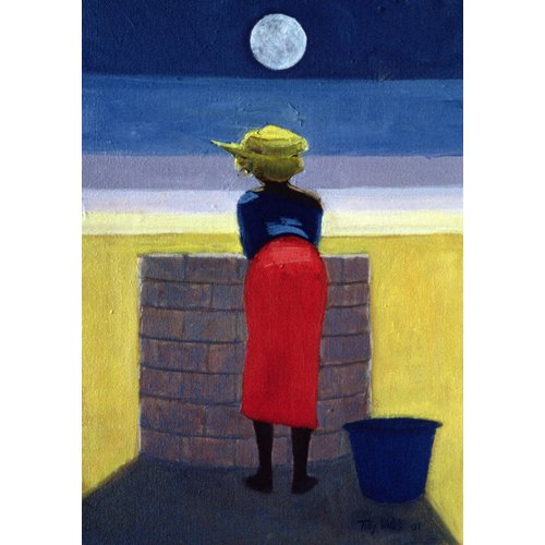 Tableau - Moonlit Evening, 2001 (oil on canvas)-