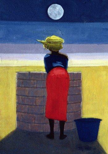 tableaux-orientales - Tableau - Moonlit Evening, 2001 (oil on canvas)- - Willis, Tilly