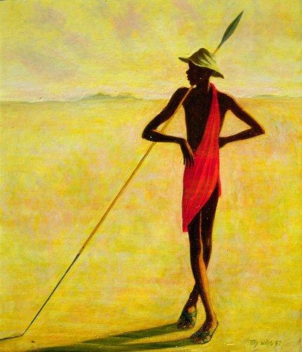 tableaux-orientales - Tableau - Watching, 1992 (oil on canvas) - - Willis, Tilly