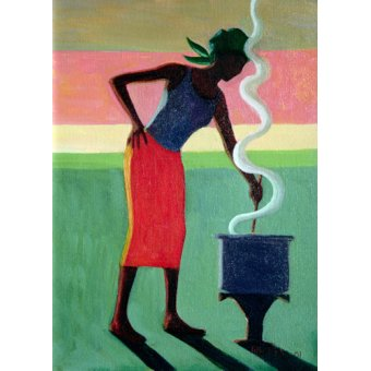 Tableaux orientales - Tableau - Cooking Rice, 2001 (oil on canvas) - - Willis, Tilly