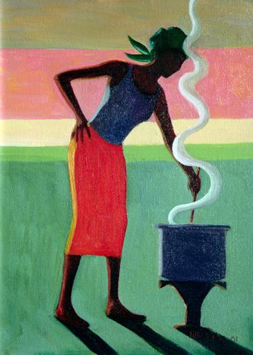 tableaux-orientales - Tableau - Cooking Rice, 2001 (oil on canvas) - - Willis, Tilly