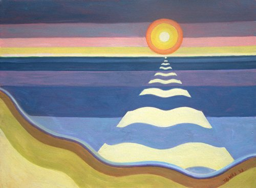 tableaux-orientales - Tableau - Evening Sun, 2003 (oil on canvas) - - Willis, Tilly