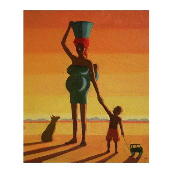 Tableau - Matriarch, 2004 (oil on canvas) -