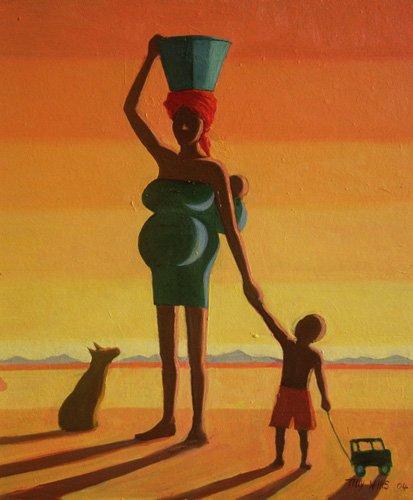 tableaux-orientales - Tableau - Matriarch, 2004 (oil on canvas) - - Willis, Tilly