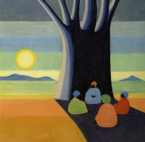 tableaux-orientales - Tableau - The Meeting, 2005 (oil on canvas) - - Willis, Tilly