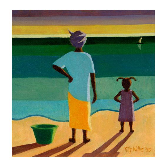 Tableau - Waiting, 2005 (oil on canvas) -