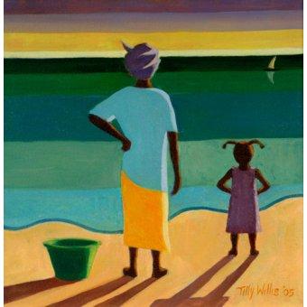 Tableaux orientales - Tableau - Waiting, 2005 (oil on canvas) - - Willis, Tilly