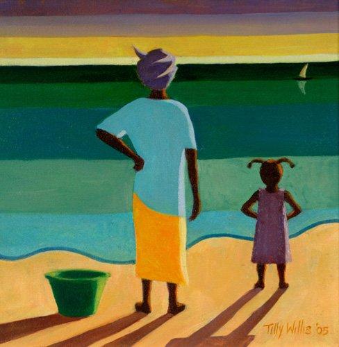 tableaux-orientales - Tableau - Waiting, 2005 (oil on canvas) - - Willis, Tilly