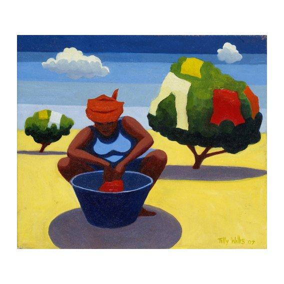 Tableau - A Drying Day, 2007 (oil on canvas) -