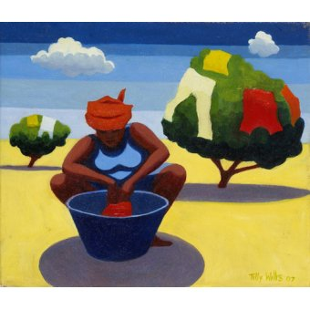 Tableaux orientales - Tableau - A Drying Day, 2007 (oil on canvas) - - Willis, Tilly