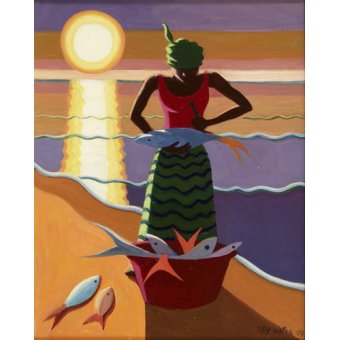 Tableaux orientales - Tableau - Fish Wife, 2009 (oil on canvas) - - Willis, Tilly