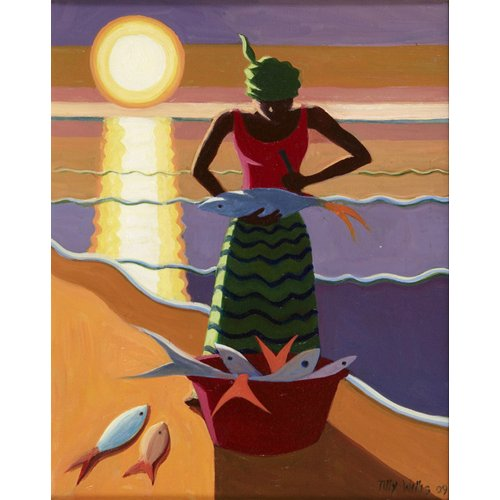 Tableau - Fish Wife, 2009 (oil on canvas) -