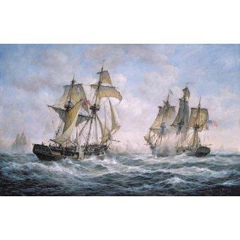 Tableaux de paysages marins - Tableau - Action Between U.S. Sloop-of-War Wasp and H.M. Brig-of-War Frolic, 1812 - - Willis, RIchard