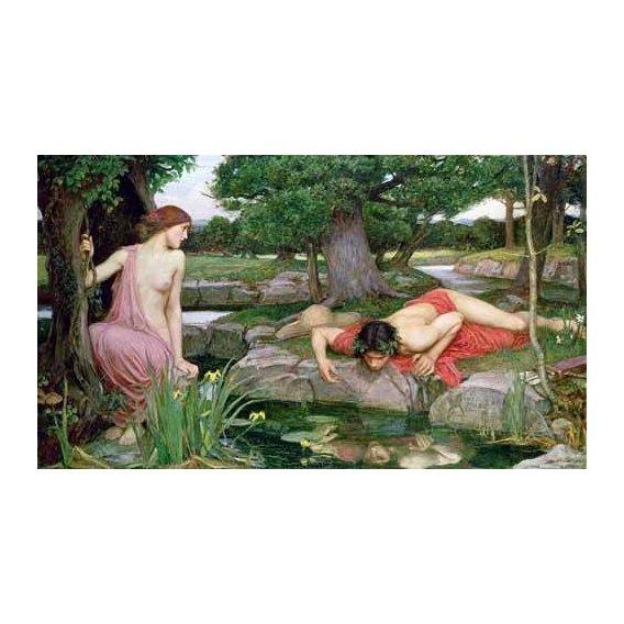 pinturas do retrato - Quadro -Eco y Narciso-