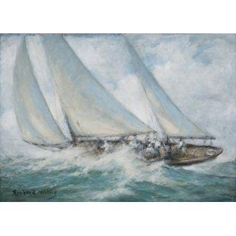Tableaux de paysages marins - Tableau - Classic Yacht - Twixt Wind and Water - - Willis, RIchard