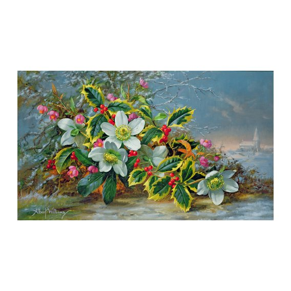 Tableau - Winter roses in a landscape -