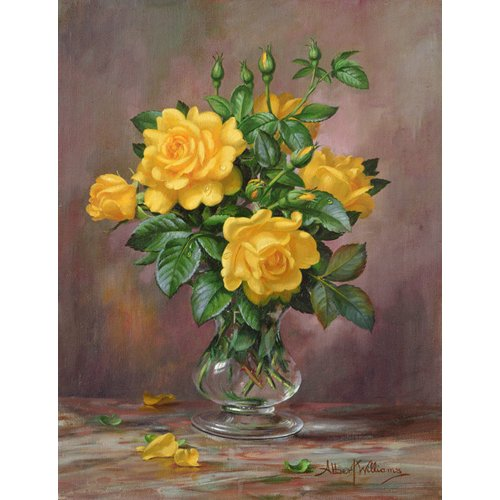 Tableau - AB.303 Radiant Yellow Roses -