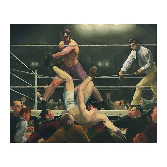 pinturas do retrato - Quadro -Dempsey and Firpo-