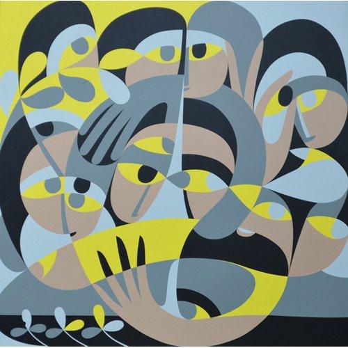 Tableau - Presence III, 1987 (acrylic on board) -