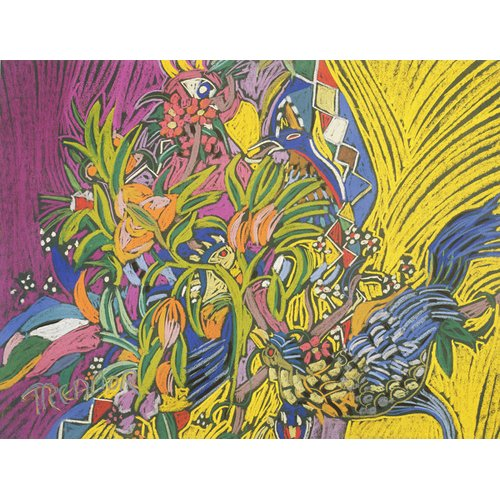 Tableau - Birds of Paradise (pastel on paper) -