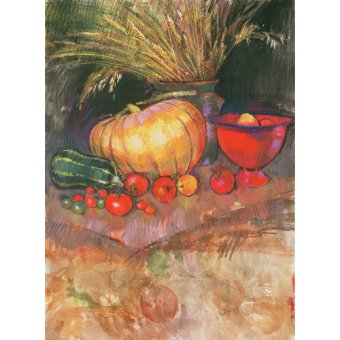 Tableaux nature morte - Tableau - Harvest (pastel on paper) - - Spencer, Claire