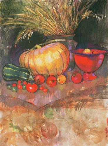 tableaux-nature-morte - Tableau - Harvest (pastel on paper) - - Spencer, Claire
