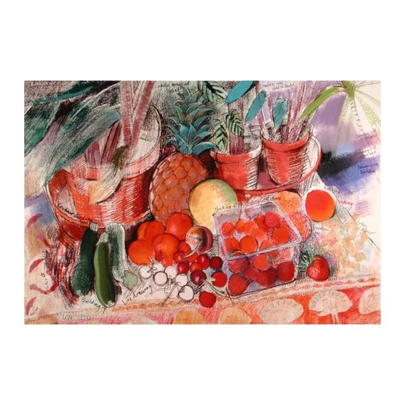 Tableau - Summer Fruits (pastel on paper) -