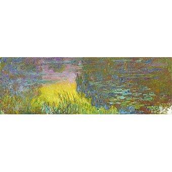 - Tableau -Les nénuphars - soleil couchant- - Monet, Claude