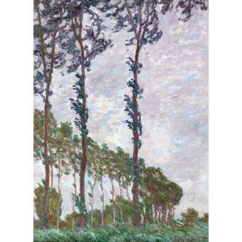 - Tableau -Effet du vent, série des peupliers- - Monet, Claude