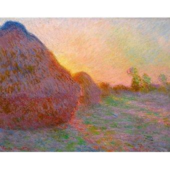 - Tableau -Meules- - Monet, Claude