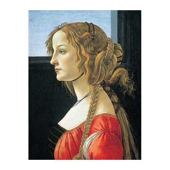 pinturas do retrato - Quadro -Joven mujer-