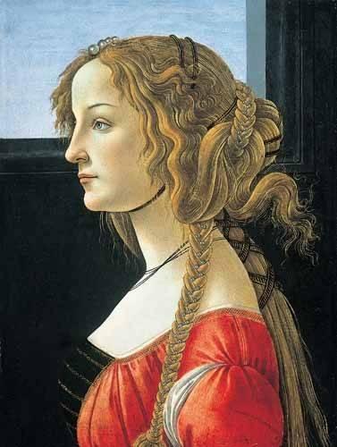 tableaux-de-personnages - Tableau -Joven mujer- - Botticelli, Alessandro
