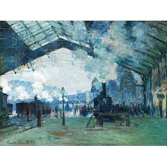 Tableau -Arrivée du train de Normandie, Gare Saint-Lazare, 1877-