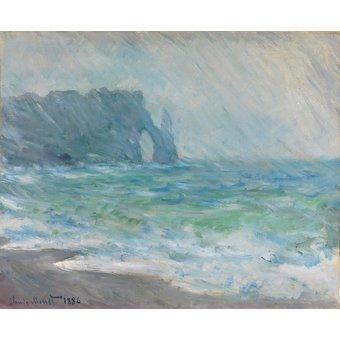 Tableaux de paysages marins - Tableau -Regnvær, Etretat- - Monet, Claude