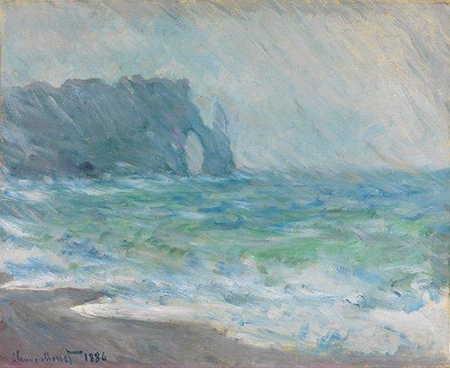 tableaux-pour-salle-a-manger - Tableau -Regnvær, Etretat- - Monet, Claude