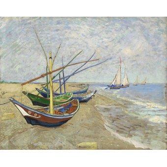 Tableaux de paysages marins - Tableau -Bateaux de pêche- - Van Gogh, Vincent