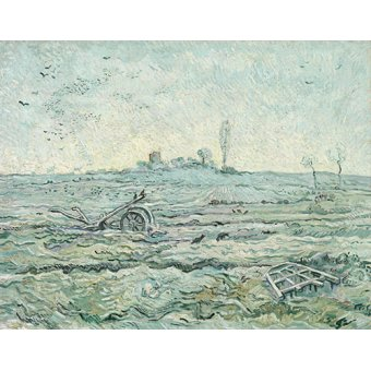 - Tableau -Champ enneigé avec une herse- - Van Gogh, Vincent