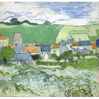 - Tableau -Maisons à Auvers- - Van Gogh, Vincent