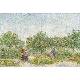 - Tableau -Jardin avec courtiser Couples, Place Saint Pierre, 1887- - Van Gogh, Vincent