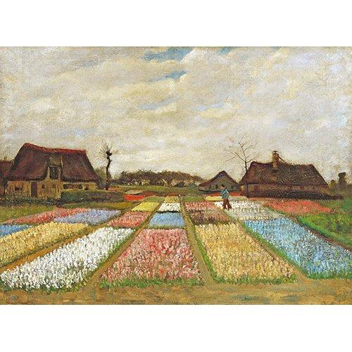 Tableau -Parterres de fleurs en Hollande, 1883-