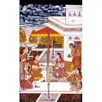 Tableaux orientales - Tableau -Mujeres charlando en la terraza- - _Anónimo Persa