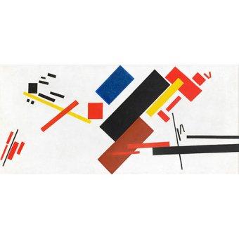 Tableaux abstraits - Tableau - Maison en construction, 1915 - - Malevich, Kazimir S.