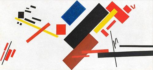 tableaux-abstraits - Tableau - Maison en construction, 1915 - - Malevich, Kazimir S.