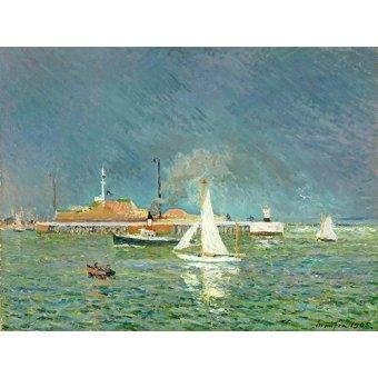 Tableaux de paysages marins - Tableau -Lorage entree des bateaux- - Maufra, Maxime