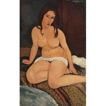 Tableaux de Nus - Tableau - Nu assis - - Modigliani, Amedeo