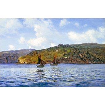 Tableaux de paysages marins - Tableau -Catspaws off the land- - Moret, Henri