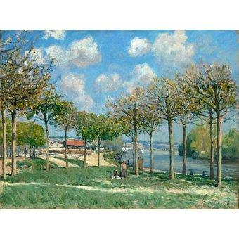 - Tableau - La Seine à Bougival - - Sisley, Alfred