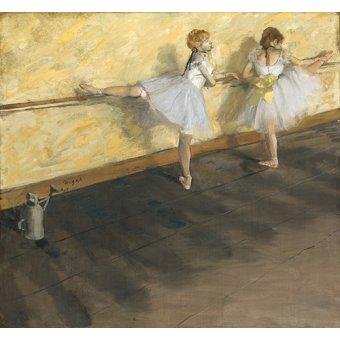 - Tableau - Danseurs exerçant à la barre, 1877 - - Degas, Edgar