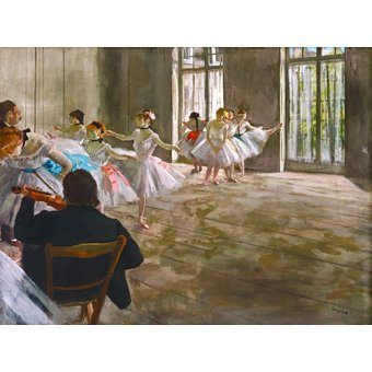 Tableaux de Personnages - Tableau - Rehearsal In The Studio, 1878 - - Degas, Edgar