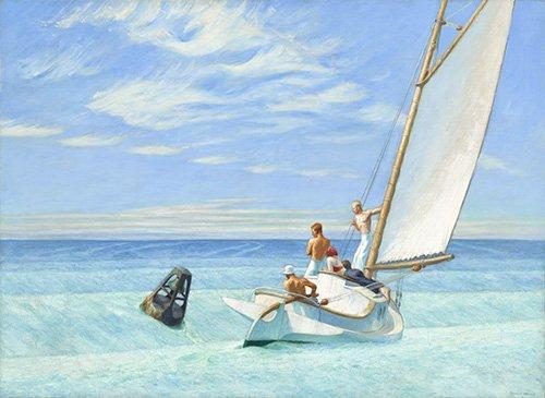 tableaux-de-paysages-marins - Tableau - Ground Swell, 1939 - - Hopper, Edward